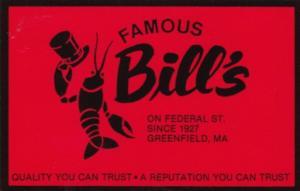 Massachusetts Greenfield Famous Bill's Restaurant