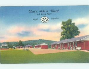 Linen MOTEL SCENE Mansfield Pennsylvania PA G7943