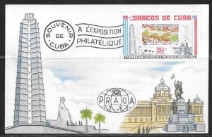 Czech, Praha 72, souvenir card, Cuba, unused