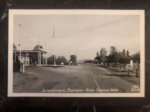 Mint Oroville Wa USA RPPC Postcard International Boundary
