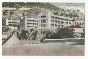UK Gibraltar Military Hospital from NW VB Cumbo Postcard Vintage c 1910
