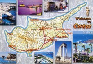 CYPRUS: WELCOME TO CYPRUS MAP WITH SPLIT-VIEWS
