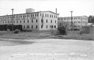 F15/ Plymouth Wisconsin RPPC Postcard c1950s Cleveland Container Factory