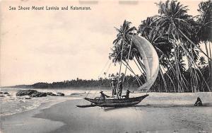 Ceylon, Ceylan Sea Shore Mount Lavinia and Katamaran  Sea Shore Mount Lavinia