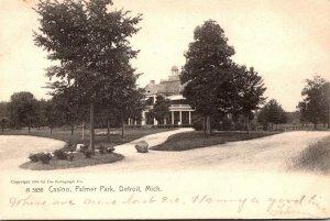 MIchigan Detroit Palmer Park Casino 1907 Rotograph