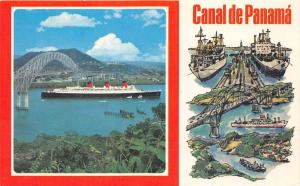 7797  R.M.S. Queen Mary   Panana Canal, Bridge of America