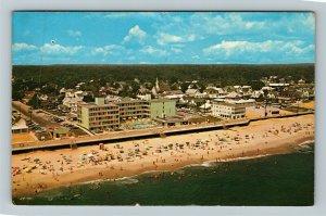 Rehoboth DE- Delaware, Rehoboth Beach, Aerial View, Chrome c1967 Postcard