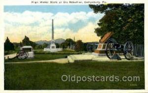 Gettysburg, PA, USA Postcard Post Card High Water Mark, Rebellion