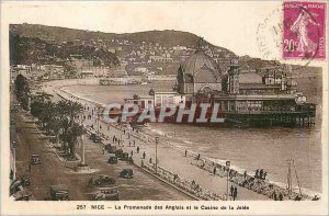 Postcard Old Nice Promenade des Anglais and the Casino of Jetee