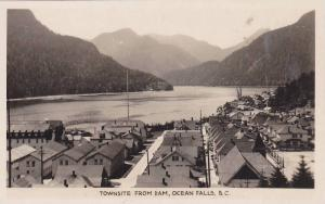 RP: Townsite from dam, OCEAN FALLS , B.C. , Canada , 20-40s