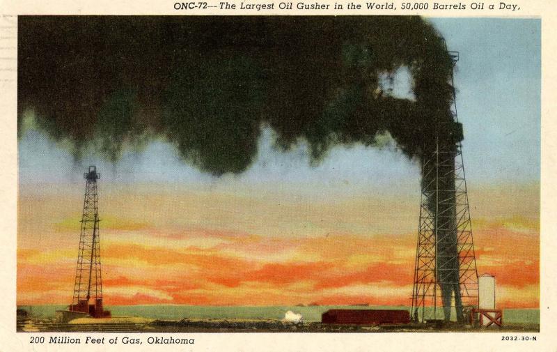 OK - Gushing Gas Well (Oklahoma)