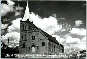 Cripple Creek, Colorado RPPC Photo Postcard St. Peter's Catholic Church c1950s