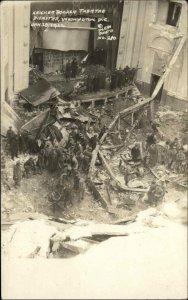 Washington DC Knicker Bocker Theatre Disaster 1922 Plew Real Photo Postcard