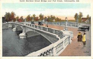 INDIANAPOLIS, Indiana IN   NORTH MERIDIAN STREET BRIDGE~Fall Creek   Postcard