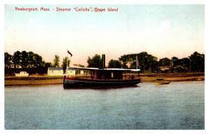 Massachusetts  Newburyport , Grape Island , Steamer Carlotta