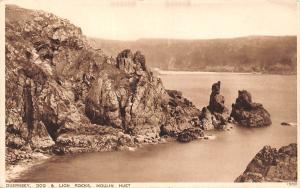Guernsey Dog and Lion Rocks, Moulin Huet Panorama
