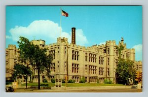 Joliet IL, Joliet Township High School & Junior College Chrome Illinois Postcard