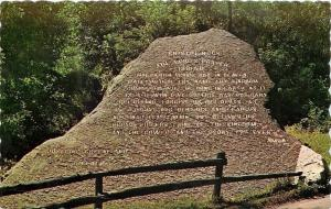 Bristol Vermont~New Haven River Roadside Lord's Prayer Rock~1950s Postcard