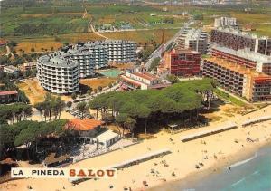 Spain Salou La Pineda, Playa Beach Plage Promenade Air view