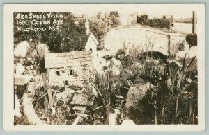 Wildwood New Jersey~Sea Shell Villa @ 1600 Ocean Avenue~1930s RPPC Poscar