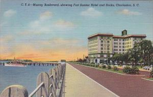 South Carlina Charleston Murray Boulevard Showing Fort Sumter Hotel And Docks