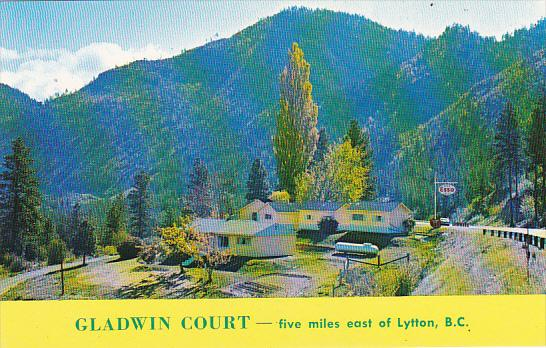 Canada Gladwin Court and Esso Gas Station Lytton British Columbia