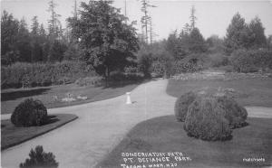 C-1910 Tacoma Washington Conservatory Path Pt Defiance Park RPPC postcard 13219