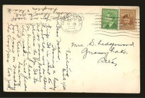 Postmarked 1950 Empress Hotel Victoria BC Gowen Sutton Color Postcard