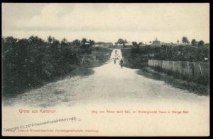 Germany Gruss aus Kamerun Postcard PPC Akwa to Manga Bell Cameroun 85133