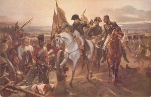 Napoleon at the battle of Friedland. Horse Old vintage French postcard
