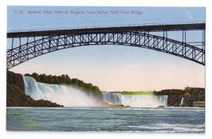 Niagara Falls Postcard Falls View Bridge Vintage NY