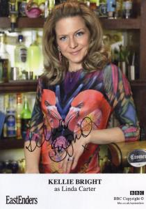 Kellie Bright Linda Carter BBC Eastenders Hand Signed Cast Card Photo