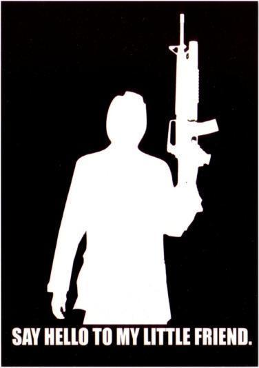 Postcard Of Scarface Say Hello To My Little Friend Movie Quote