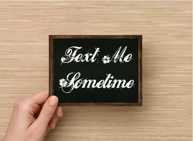 Set of 6  Postcards Blackboard Greetings - Text Me Sometime - Simple Expression