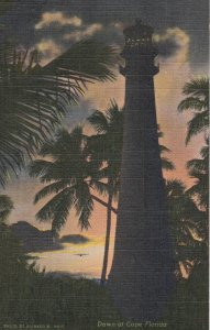 LIGHTHOUSE at dawn , Cape Florida , 30-40s