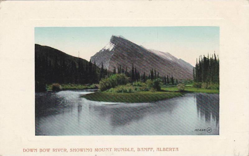 Down Bow River, showing Mount Rundle, Banff, Alberta,  Canada, 00-10s