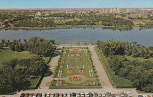 Aerial View, The Queen City, Legislative Buildings, Wascana Lake, REGINA, Sas...