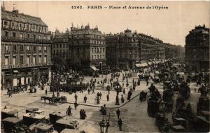 CPA PARIS 2e-Place et Avenue de l'Opéra (322027)