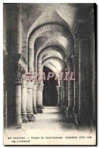 Postcard Old Crypts Saintes Saint Eutrope Collateral south coast
