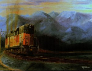 Trains Milwaukee Road Locomotives With A Heavy Freight In Montana