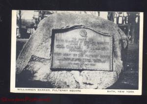 BATH NEW YORK WILLIAMSON MARKER PULTENEY SQUARE VINTAGE POSTCARD NY