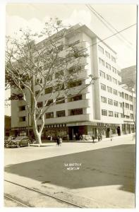 Medellin Columbia Comercial Store Fronts Cars RPPC Real Photo Postcard