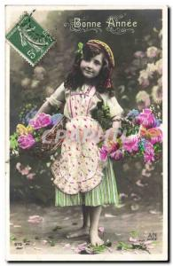 Old Postcard Fantasy Child Happy New Year