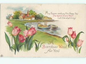 Divided-Back BEAUTIFUL FLOWERS SCENE Great Postcard AA3086