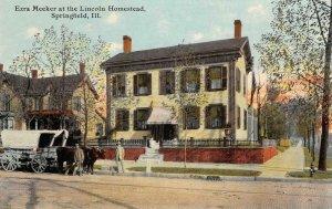 Ezra Meeker Lincoln Homestead Springfield, IL Oregon Trail 1910 Vintage Postcard