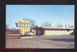 OKLAHOMA CITY OKLAHOMA ROUTE 66 MEADOWS RESTAURANT OLD CARS VINTAGE POSTCARD