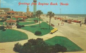 Greetings from Daytona Beach, Florida unused Postcard