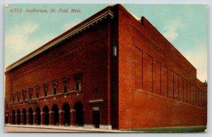 St Paul Minnesota~Auditorium~Arches Along Entrance Side~c1910