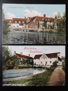 Suffolk 2 x FLATFORD MILL In Constables Country c1907 Old Postcards