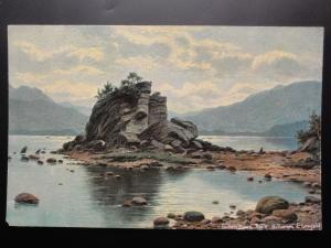 Ireland KERRY Colleen Baurn Rock, Killarney c1908 - Art by E. Longstaffe
